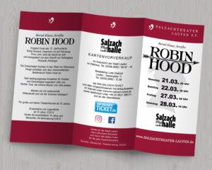 Salzachtheater Laufen - Robin Hood - Flyer aussen